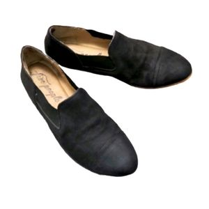 Free People Black Loafer Shoes Size 40